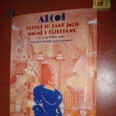 Carteles Feria: CARTEL MOROS Y CRISTIANOS EN ALCOI DEL AÑO 1993. 70X50 CM.. Lote 15938607