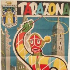 Affiches Foire: CARTEL FERIA FIESTAS, TARAZONA 1961, ZARAGOZA , LITOGRAFIA, ILUSTRADOR UGALDE. Lote 15955689