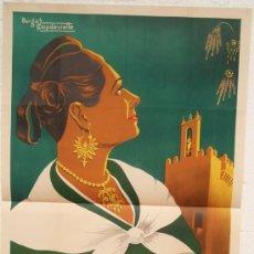 Carteles Feria: CARTEL FERIA FIESTAS, CACERES 1953 , LITOGRAFIA, ILUSTRADOR BURGOS CAPDEVIELLE. Lote 117579182