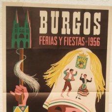 Carteles Feria: CARTEL FERIA FIESTAS, BURGOS 1956 , LITOGRAFIA, ILUSTRADOR JOSE SANTAMARIA. Lote 15956727