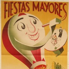 Carteles Feria: CARTEL FERIA FIESTAS, AMPOSTA 1955 TARRAGONA , LITOGRAFIA,. Lote 15956737