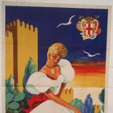 Carteles Feria: CARTEL FERIA FIESTAS, ALMERIA 1955 , LITOGRAFIA , ILUSTRADOR ROBLES CABRERA. Lote 212118193