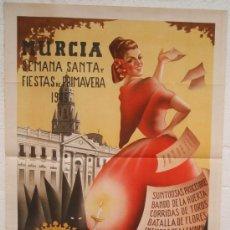 Carteles Feria: CARTEL FERIA FIESTAS, MURCIA 1945 , LITOGRAFIA , ILUSTRADOR DIEZ. Lote 19562098