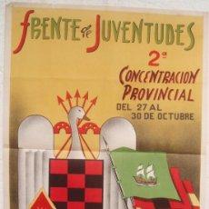 Carteles Feria: CARTEL FERIA FIESTAS, ALMERIA 1947, FRENTE DE JUVENTUDES , LITOGRAFIA , ILUSTRADOR CUESTA. Lote 15957614
