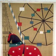 Carteles Feria: CARTEL FERIA FIESTAS, BURGOS 1959 , LITOGRAFIA ,. Lote 15957911