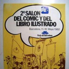 Carteles Feria: CARTEL II SALON DEL COMIC - BARCELONA - 1982. Lote 16175704
