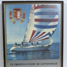 Carteles Feria: CARTEL VELA VI TROFEO CONDE GONDOMAR VIGO YATE PUBLICIDAD COCA COLA GALICIA 1980 FOTO MOONDUSTER. Lote 26860522
