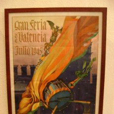 Carteles Feria: CARTEL GRAN FERIA DE VALENCIA 1945.SEGRELLES. Lote 26002604