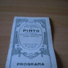 Carteles Feria: PROGRAMA DE LAS FIESTAS DE PINTO (MADRID)1927 RARISIMO. Lote 25443438