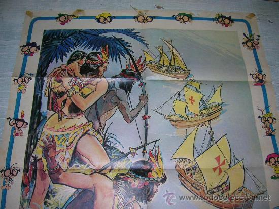 Carteles Feria: DIA DE LA RAZA CRISTOBAL COLON COLECCION ANTEOJITO DESCUBRIMIENTO AMERICA 12 DE OCTUBRE DE 1492 - Foto 2 - 18288387