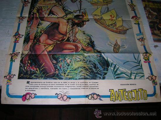 Carteles Feria: DIA DE LA RAZA CRISTOBAL COLON COLECCION ANTEOJITO DESCUBRIMIENTO AMERICA 12 DE OCTUBRE DE 1492 - Foto 3 - 18288387