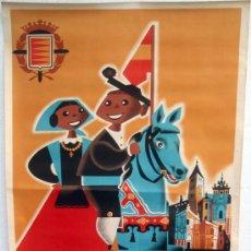 Carteles Feria: CARTEL VALLADOLID, FERIAS Y FIESTAS , 1965 , LITOGRAFICO.. Lote 18896709