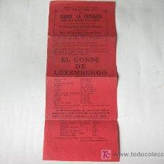 Carteles Feria: CARTEL FOLLETO DEL TEATRO ISABEL LA CATOLICA - MEDINA DEL CAMPO - VALLADOLID - AÑOS 20. Lote 19089926