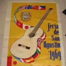Carteles Feria: CARTEL DE LA FERIA DE SAN AGUSTÍN DE LINARES, DE 1969. Lote 25809038