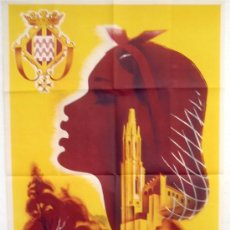 Carteles Feria: CARTEL FERIAS Y FIESTAS GERONA , LITOGRAFIA , 1953. Lote 19677421
