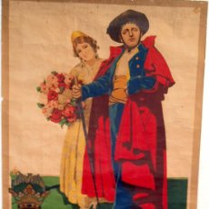 Carteles Feria: CARTEL FERIAS Y FIESTAS VALENCIA, FERIA JULIO 1925 , LITOGRAFICO, ILUSTRADOR CANET. Lote 19677646
