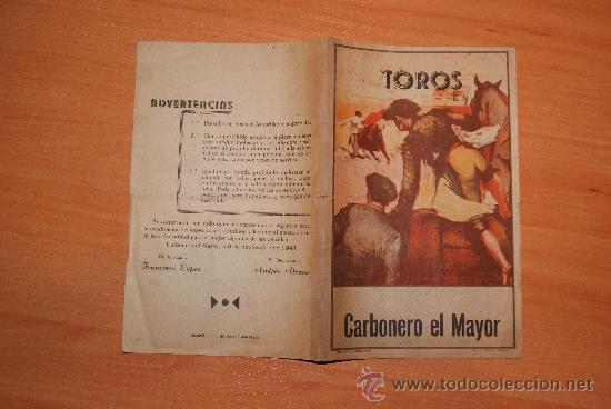 FIESTAS EN CARBONERO EL MAYOR 1941 SEGOVIA SANTISIMA VIRGEN DEL BUSTAR (Coleccionismo - Carteles Gran Formato - Carteles Ferias, Fiestas y Festejos)