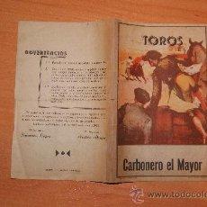 Carteles Feria: FIESTAS EN CARBONERO EL MAYOR 1941 SEGOVIA SANTISIMA VIRGEN DEL BUSTAR. Lote 26923103