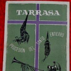 Carteles Feria: CARTEL DE TARRASA (TERRASSA) LITOGRAFICO DE PROCESION DEL SANTO ENTIERRO. VIERNES SANTO. FONTCASALS.. Lote 26756468