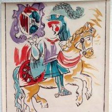 Carteles Feria: CARTEL SALAMANCA 1967 , FERIAS Y FIESTAS , CABALLO , ILUSTRADOR ANIBAL. Lote 21517624