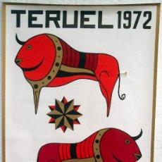 Carteles Feria: CARTEL TERUEL 1972 , FERIAS Y FIESTAS DEL ANGEL ,. Lote 276492418