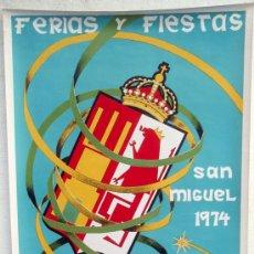 Carteles Feria: CARTEL CACERES 1974 , FERIAS Y FIESTAS , ILUSTRADOR MARTINEZ TERRON. Lote 21517713