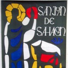 Carteles Feria: CARTEL SALAMANCA 1967 ,FERIAS Y FIESTAS SAN JUAN DE SAHAGUN , ILUSTRADOR GENARO. Lote 21518025