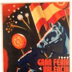 Carteles Feria - CARTEL VALENCIA 1940, FERIA DE JULIO, ILUSTRADO POR EYELO - 21519074