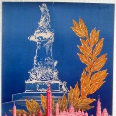Carteles Feria: CARTEL ZARAGOZA 1958-1959 , ANIVERSARIO DE LOS SITIOS , ILUSTRADOR MARGDE. Lote 21519403