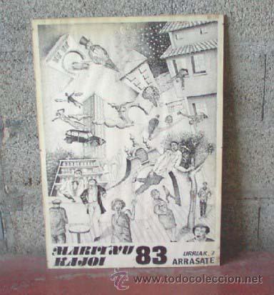 CARTEL ARRASATE 83 (Coleccionismo - Carteles Gran Formato - Carteles Ferias, Fiestas y Festejos)