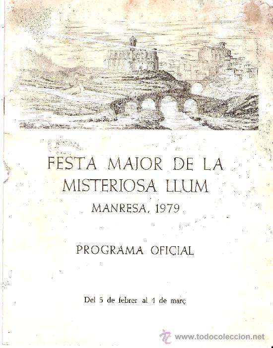 PROGRAMA FIESTA MAYOR DE MANRESA 1979 (Coleccionismo - Carteles Gran Formato - Carteles Ferias, Fiestas y Festejos)