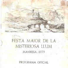 Carteles Feria: PROGRAMA FIESTA MAYOR DE MANRESA 1979. Lote 21657278