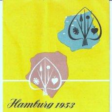 Carteles Feria: PROGRAMA HAMBURG 1953 . Lote 26571633