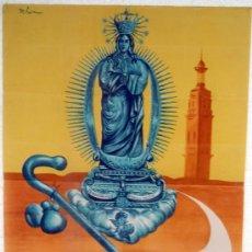 Carteles Feria: CARTEL ONTENIENTE VALENCIA , 1954, FIESTAS DE LA PURISIMA, ILUSTRADO L. LOSA. Lote 21762573