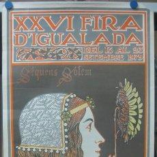 Carteles Feria: CARTEL XXVI FIRA D'IGUALADA, BARCELONA - SEPTIEMBRE DE 1979. Lote 21941185
