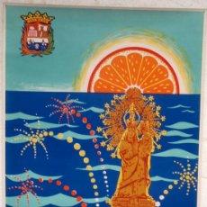 Carteles Feria: CARTEL FERIAS Y FIESTAS CULLERA, VALENCIA, 1972, FIESTAS VIRGEN DEL CASTILLO ,ILUSTRADOR RAGA. Lote 22906429