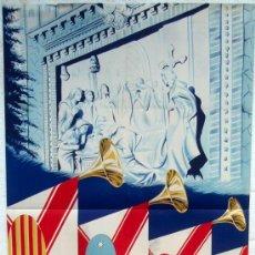 Carteles Feria: CARTEL FERIAS Y FIESTAS DE SAN FERNANDO , TERUEL 1948 ,LITOGRAFIA, ILUSTRADOR CASINOS. Lote 22928083