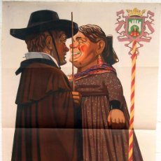 Carteles Feria: CARTEL FERIAS Y FIESTAS BURGOS 1941 , GIGANTES Y CABEZUDOS ,LITOGRAFIA, ILUSTRADOR LEONCIO GARCIA. Lote 22928281