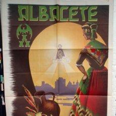 Carteles Feria: CARTEL FERIAS Y FIESTAS ALBACETE 1948 , FORMATO MUY GRANDE ,LITOGRAFIA, ILUSTRADOR JUAN ANGEL. Lote 22928515