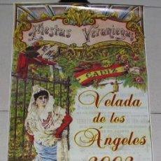 Carteles Feria: CARTEL DE LA VELADA DE LOS ÁNGELES DE CÁDIZ, 2002. Lote 24116778