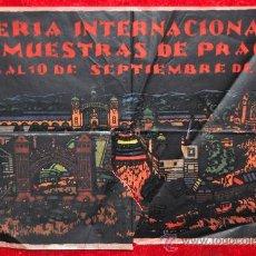 Carteles Feria: CARTEL FERIA INTERNACIONAL DE MUESTRAS DE PRAGA 1927. ESTAMPADO SOBRE PAPEL VEGETAL.. Lote 25312270