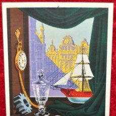 Carteles Feria: CARTEL DE FERIA INTERNACIONAL DE BRUSELAS BELGICA 1952. MIDE 30 CM X 20 CM. . Lote 25312505