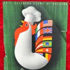 Carteles Feria: CARTEL DEL SALONE INTENAZIONALE DELL'ALIMENTAZIONE. 1953. ITALIA. MIDE 25 CM X 16 CM.. Lote 25316352