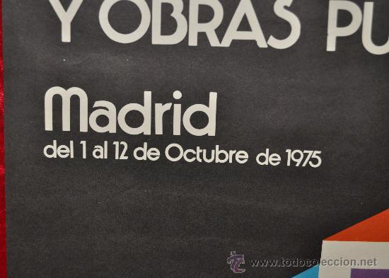 Carteles Feria: cartel de la VI Feria internacional de la construccion y obras publicas. Madrid 1975. - Foto 2 - 25286449