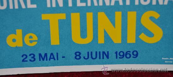 Carteles Feria: Cartel 14 foire internationale de Tunis 1969. Tunez. En arabe. Mide 28 cm x 21 cm. - Foto 2 - 25316023