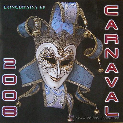 ALICANTE, BASES CONCURSOS DE CARNAVAL 2008, DESPLEGABLE 5 HOJAS (Coleccionismo - Carteles Gran Formato - Carteles Ferias, Fiestas y Festejos)