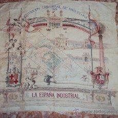 Carteles Feria: (XJ-95)PAÑUELO EN SEDA DE LA EXPOSICION UNIVERSAL DE BARCELONA AÑO 1888 PLANO TOROS CATALUÑA. Lote 25965729