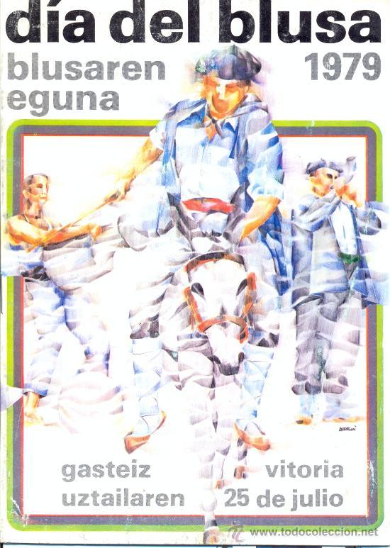 PROGRAMA DE FIESTAS.DIA DE LA BLUSA VITORIA 1977 (Coleccionismo - Carteles Gran Formato - Carteles Ferias, Fiestas y Festejos)