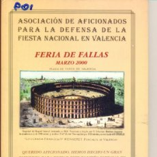 Carteles Feria: PROGRAMA DE FERIA DE FALLAS 2000. Lote 28708091
