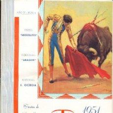 Carteles Feria: PROGRAMA DE FERIA Y FIESTAS DE SAN MATEO 1951. LOGROÑO TAURINO. Lote 28708255